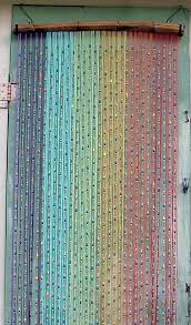 Bead Curtains For Doors Items Similar To Bead And String Rainbow Curtain On Etsy 1