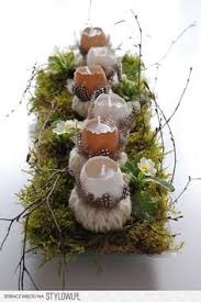 Natural Easter Table Decorations by