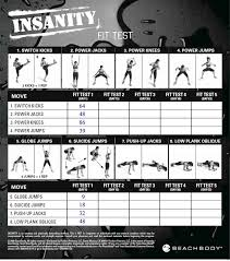 p90x fit test worksheet insanity workout fit test tracking sheet