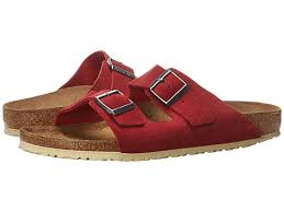 Red Barn Shoes Birkenstock Arizona Suede Unisex Shoes Barn Red Suede