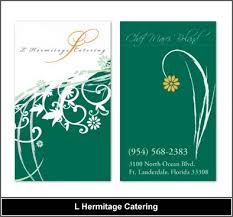 Catering Calling Card Design Business Card Design Catering