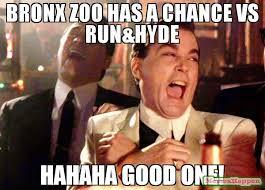 Hahaha Memes - bronx zoo has a chance vs run hyde hahaha good one meme ray liota