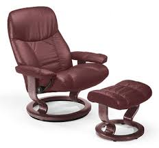 stressless consul medium recliner and ottoman classic base