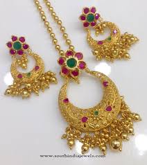 necklace pendant designs gold images One gram gold plated chain pendant designs south india jewels jpg