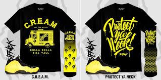 Wu Tang Socks Wu Tang Yellow Nike Foamposite By Original Rufnek