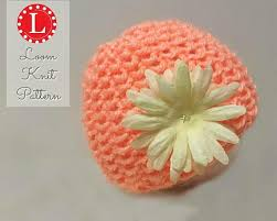 newborn pattern video loom knitting pattern newborn baby hat seed stitch with video loom
