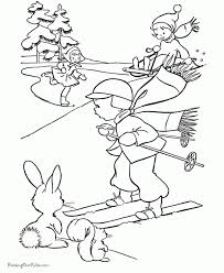 free kids printable christmas coloring pages winter fun intended
