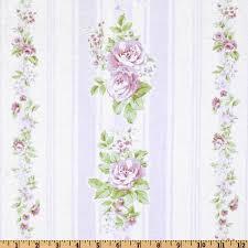 Shabby Chic Designer by 5 98 Yd Treasures By Shabby Chic Garden Rose Vine Stripe White