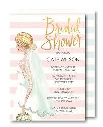vintage bridal shower invitations stripes bridal shower invitation