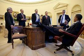 President Obama In The Oval Office Photograph Shows President Obama With His Feet On Oval Office Desk
