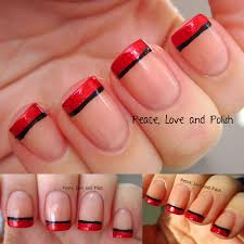 red and silver french tip nails red and silver tip nail designs a