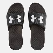 shop black under armour strike micro geo slides for mens by under