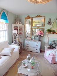 shabby chic gr andfather with unique fountain living room