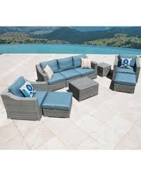 Patio Furniture Set Sale Slash Prices On Corvus Martinka 9 Grey Wicker Patio