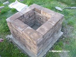 Brick Firepit Diy Square Pit How To Build A Brick Without Mortar