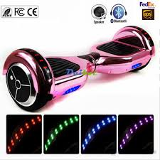 electric skateboard led lights no tax new chrome pink gold bluetooth hoverboard led lights two