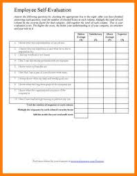 sample employee evaluation forms employee self evaluation thumb