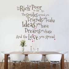 you are rich or poor wall decal quote sticker lounge living room large wall decals for living room wall decals for living room ideas