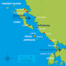 Kefalonia Greece Map by Rya Courses