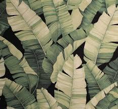 Hawaiian Curtain Fabric 11 Tropical Leaf Print Barkcloth Fabrics In 31 Colorways Retro