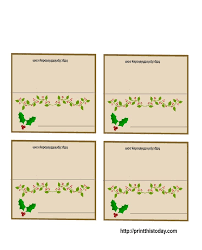 christmas table place cards template 2017 best template examples