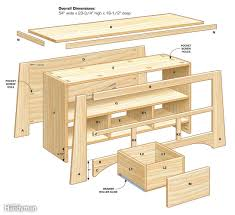 woodworking plans tv stand yellow