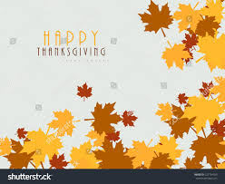 thanksgiving day celebrations colorful maples leaves decorated poster banner stock vector