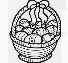 easter basket coloring drawing free wallpaper anggela coloring