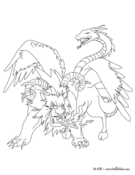 chimera the monstruous fire breathing creature coloring pages