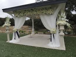 Outdoor Winter Curtains Ceremony Decor Wedding Ceremony All White Wedding Gazebo
