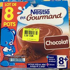 8 Pots by P U0027tit Gourmand Chocolat Lot De 8 Pots Nestlé 8 100 G