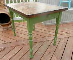 Farmhouse Kitchen Furniture by Small Green Farmhouse Kitchen Table By Stefantastical On Etsy