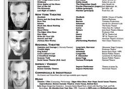 Headshot And Resume Sample by Theatrical Resume Example Reentrycorps
