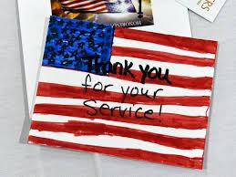 photos make cards to thank veterans