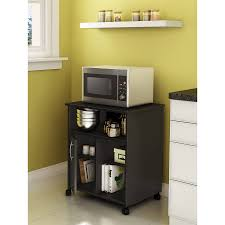 kitchen island microwave cart ameriwood home 24 open microwave cart in white stipple walmart