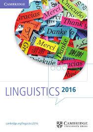 linguistics catalogue 2016 by cambridge university press issuu
