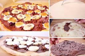 jeux de cuisine de pizza au chocolat la pizza au chocolat et aux marshmallows pour les grands gourmands