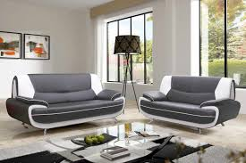 ensemble canape 3 et 2 places deco in canape 3 2 places gris et blanc marita marita