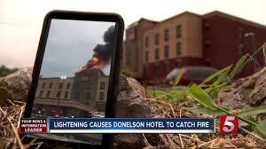 Nashville Comfort Suites Fire At Comfort Suites Caused By Lightning Newschannel 5 Nashville