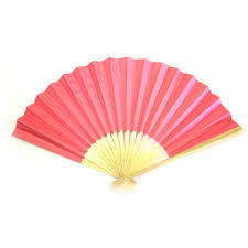 folding fans pink paper folding fans pink paper favours and pink