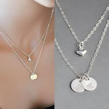 initials necklace silver best silver initial disc necklace photos 2017 blue maize