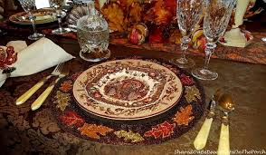 a thanksgiving ttablescape with johnson brothers his majesty dishware