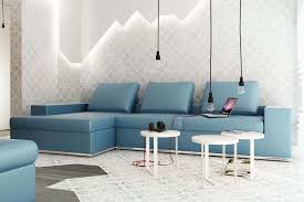 Teal Table L Living Room Minimalist L Shape Blue Living Room Sofa Combine