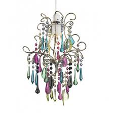 Multi Coloured Chandeliers Easy Fit Light Shade Multi Coloured Chandelier To Buy From A Large