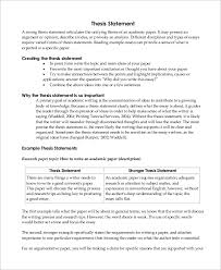write a good thesis statement sample thesis statement 10 examples in word pdf