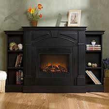 Black Electric Fireplace Macon Black Electric Fireplace With Bookcases Overstock