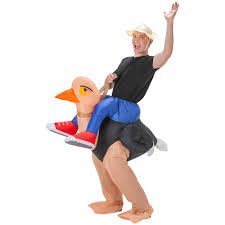 halloween blow ups clearance totally ghoul halloween airblown costume ollie ostrich size xxxl