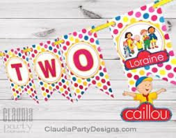 caillou party supplies 1st birthday archives party designs