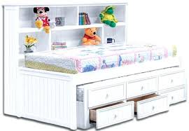kids captain bed twin captains bed with bookcase headboard intended for furniture
