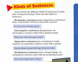 kinds of sentences mr norr 5th grade room 12